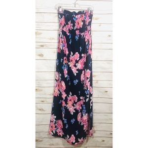 Old navy elastic top strapless floral maxi dress
